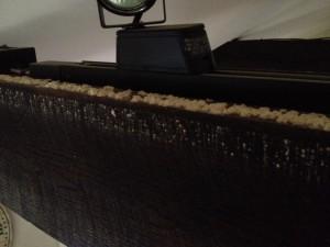 Frass a interior top of beam